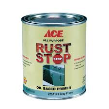 ace rust stop oil based primer oil based indoor outdoor gray