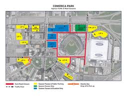 Mlb Map Comerica Park Information Gate Security Detroit Tigers
