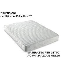 materasso piazza e mezza misure memory una piazza e mezza cm 120x190 sottovuoto e made in italy