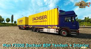 man f2000 dachser bdf tandem interior v1 0 1 26 x euro truck