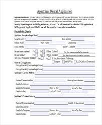 7 rental application examples samples
