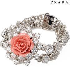 silver rose bracelet jewelry images Import shop p i t prada prada bracelet jewelry rhinestone rose jpg