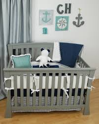 Navy Blue Chevron Crib Bedding by Navy And Grey Nautical Crib Bedding With Chevron And World Map
