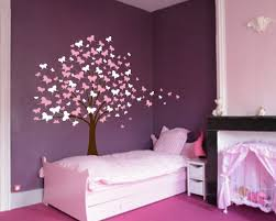 Nursery Wall Tree Decals Large Wall Tree Baby Nursery Decal Butterfly Cherry Blossom 1139