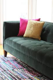 Dry Clean Sofa Cushions How To Clean Velvet Upholstery Apartment Therapy