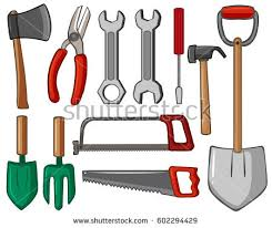 Types Of Gardening Tools - tools set vector download free vector art stock graphics u0026 images