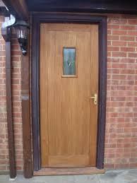 Wickes Patio Doors Upvc by Wickes External Oak Veneer Door With Glazed Window And Mortice