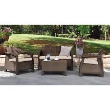 keter corfu love seat all weather outdoor patio furniture w
