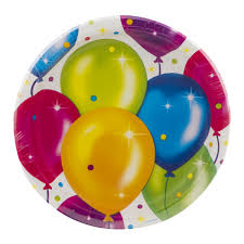 large birthday balloons party creations birthday balloons plates 8 3 4 inch 8 ct 8 0 ct