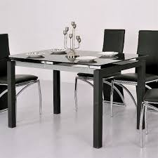 table cuisine verre trempé table cuisine verre tremp simple cribel logico table en mtal peint
