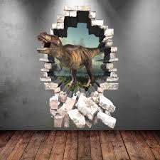 dinosaur wall decal wall stickers full colour 3d dinosaur zoom