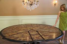 large round to round dining jupe table walnut table with hidden
