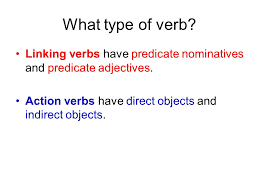 complements what type of verb linking verbs have predicate