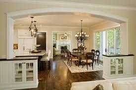 dining wood floor light walls dark furniture craftsman homes