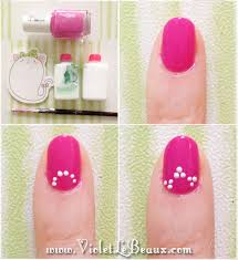 how to do the easiest nail art in the world lazy dot nail art
