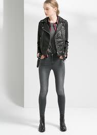 biker jacket belted biker jacket women mango usa