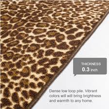 Rubber Backed Bathroom Rugs by Ali Leopard Brown Beige Animal Print Dots Modern Mat Non Slip