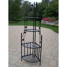 Wonder Working Aluminium Garden Furniture Tags Menards Patio - 4 tier wrought iron corner metal planter stand in black metal