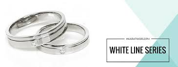 the wedding ring in the world white line series karat world