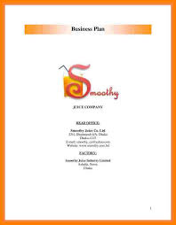 7 example of a cover page for a business plan joblettered