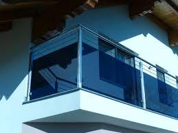 glas balkon balkongeländer aus edelstahl füllung aus glas grau mit