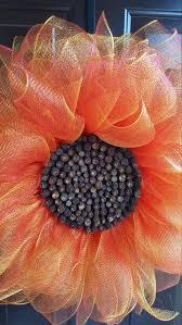 Sunflower Mesh Wreath The 25 Best Sunflower Wreaths Ideas On Pinterest Spring Door