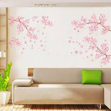 living room wonderful wall art stickers for living room with awesome wall decor stickers images pink sakura flower wall sticker flower sticker for wall green fabric