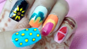 5 easy nail art designs for short nails youtube