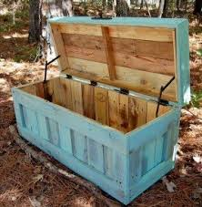 bench made out of pallets garden storage benches foter