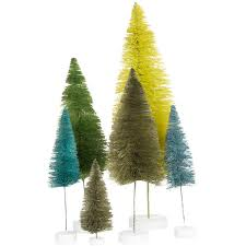 foster co rainbow trees ornament set of 6