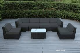 Grey Wicker Patio Furniture by Beautiful Outdoor Patio Wicker Furniture Deep Seating 7pc Couch