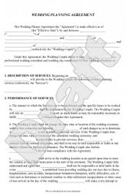 wedding planner contracts events agreement contractsent planner contract template l