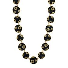 gold flowers necklace images 18k gold full ebony flower necklace with inlaid gold flowers and jpg