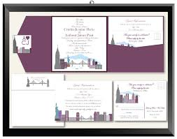 wedding invitations new york cityscape wedding invitations in the city city skyline