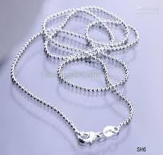 silver necklace clasps images 2018 long ball beaded 925 sterling silver necklace chains lobster jpg