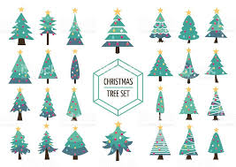 Christmas Decorations With Pine Tree Branches by Christmas Pine Tree Set Icon Holiday Decoration Stock Vector Art