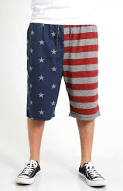 Brooklyn Flag Brooklyn Cloth Men U0027s American Flag Jogger Shorts