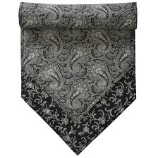 54 inch table runner table runners black paisley print 54 inch table runner at