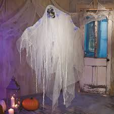 hanging death ghost with blue lights cheesecloth halloween