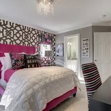 Pink Themed Bedroom - cozy light grey themed bedroom ideas with high hedboarded bed in