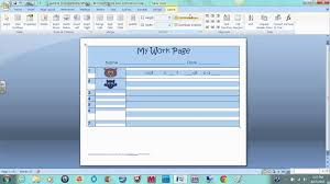 make a worksheet for students in word youtube