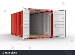 3d rendering open shipping container stock illustration 86244160