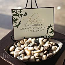 wedding wishing stones in lieu of a unity candle guests can hold stones during the
