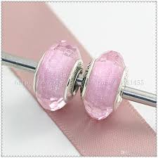 pink glass bead bracelet images 2018 925 sterling silver screw core lampwork pink shimmer jpg