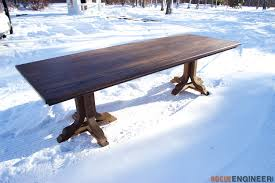 How To Make A Pedestal Table J Pedestal Dining Table Rogue Engineer