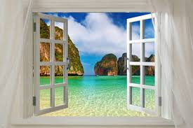 window posters window to bay phi phi thailand scenic poster