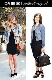 daily style finds pinterest inspired little black dress denim