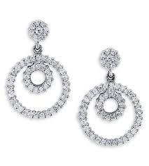 white gold dangle earrings solid 14k white gold dangle diamond stud earrings earrings