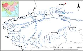 China River Map by Status Of Asiatic Wild Cat And Its Habitat In Xinjiang Tarim Basin
