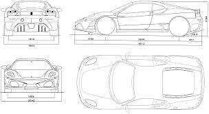 ferrari front drawing 2005 ferrari f430 coupe blueprints free outlines